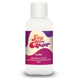 25ml bottle of Sex with Cancer lubricant for sale